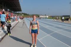 T.Myskova po dobehu A finale behu na 60m